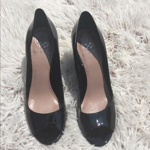 Vince Camuto Berit black patent leather heels
